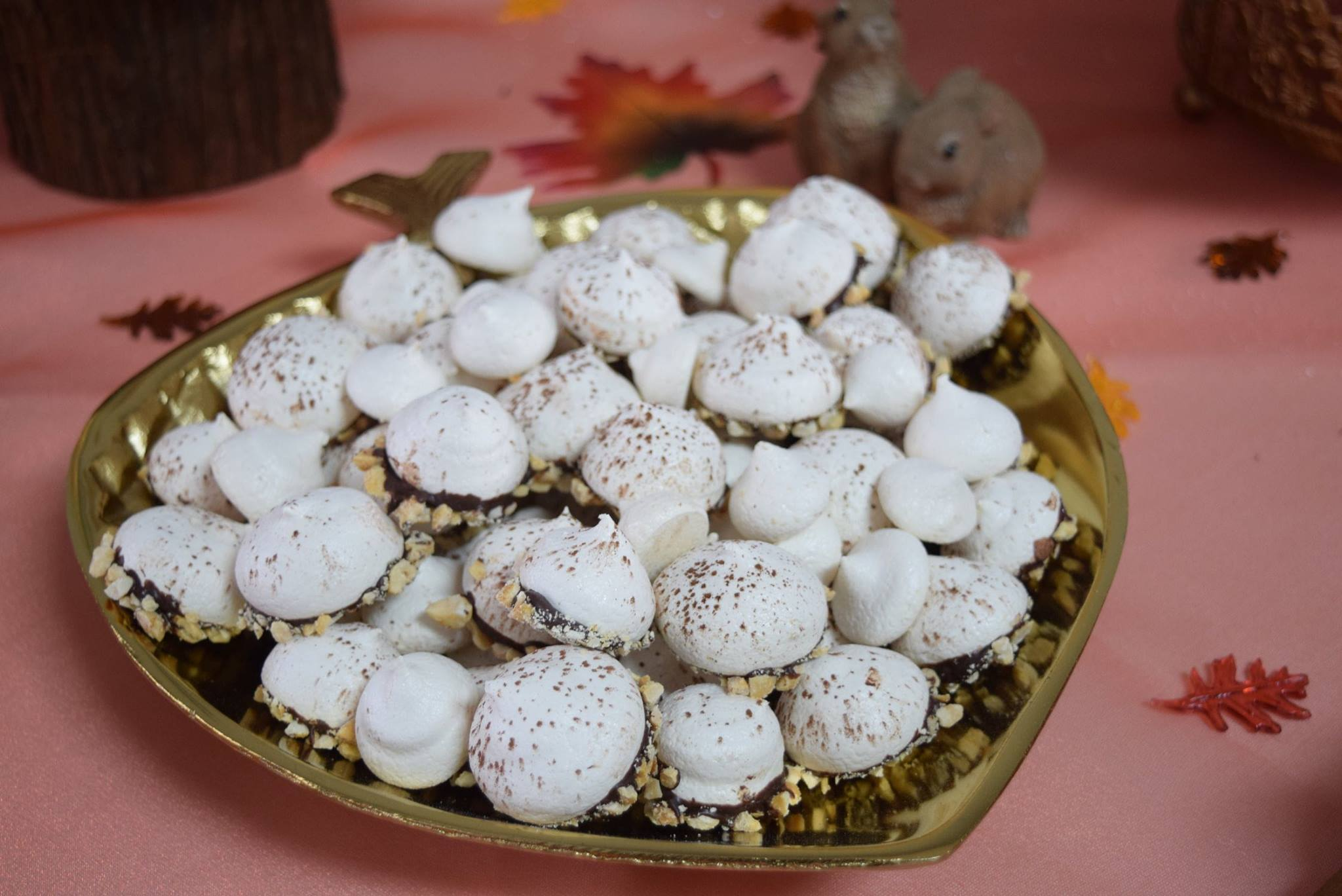 Hazelnut Meringue Acorns