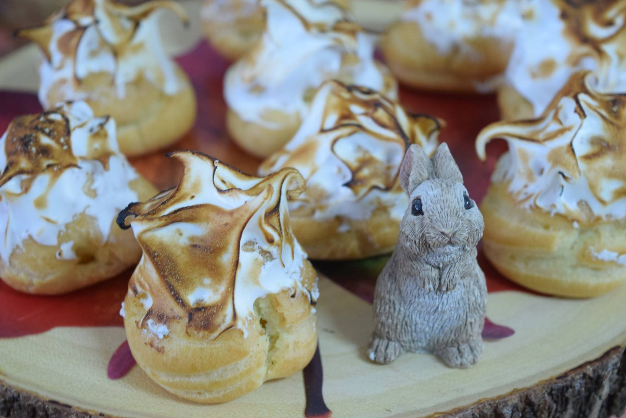 Toasted Meringue Cream Puff
