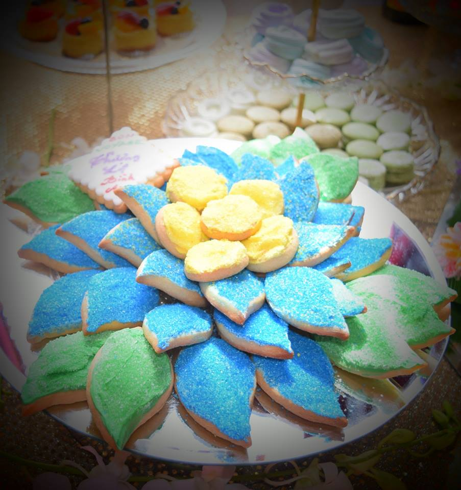flower bouquet sugar cookies